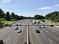 2019-07-12 10 51 10 View south along Interstate 495 (Capital Beltway) from the overpass for Maryland State Route 190 (River Road) on the edge of Bethesda and Potomac in Montgomery County, Maryland.jpg