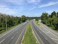 2019-07-17 09 19 37 View south along Interstate 895 (Baltimore Harbor Tunnel Thruway) from the overpass for Interstate 195 (Metropolitan Boulevard) in Arbutus, Baltimore County, Maryland.jpg