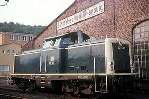DB Class V 100 - 213 341 in Dillenburg 1983