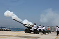 21 Gun Salute in Gibraltar marking the birth of Prince George of Cambridge 03.jpg