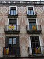 257 Casa Galceran, pl. Cols 14-15 (Vilanova i la Geltrú), esgrafiats de la façana.jpg