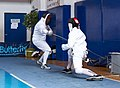2nd Leonidas Pirgos Fencing Tournament. The fencer Panos Vafeas performs a counter-attack and scores a touch.jpg