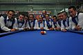 3-Cushion World Cup 2013-4 Medellin, Columbia-Columbian team at the last 32-round.jpg
