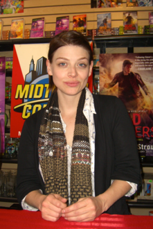 Benson at Midtown Comics in March 2011.