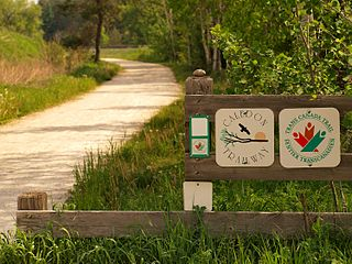 Trans Canada Trail Network of walking, hiking, and cycling trails across Canada