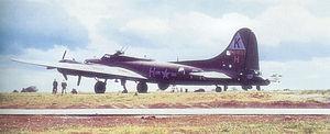 RAF Kimbolton - Douglas-Long Beach B-17G-30-DL Fortress AAF Ser. No. 42-38111 525th BS.
