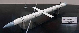3M-54 Kalibr - Image: 3M 54E missile MAKS2009