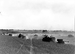 3rd Canadian Division vehicles advancing during Operation Tractable August 1944.jpg