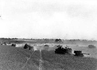 Operation Tractable - Canadian forces moving toward Falaise on 14 August 1944