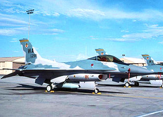 414th Combat Training Squadron - Former aircraft parking area for the 414th Combat Training Squadron. F-16C Block 32D, AF Ser. No. 86-0281, prominent in photo