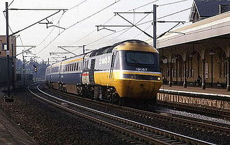 Retford railway station - An InterCity 125 at the station following electrification.