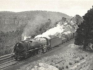 New South Wales D57 class locomotive - Image: 5712 Mt Vic 1954