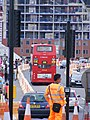 588 bus, Queen Elizabeth Olympic Park July 2013 (9378061189).jpg