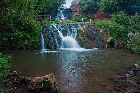 Dzhuryn waterfall, Ukraine.