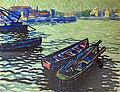 81 - Barques au Bazacle à Toulouse 1910 - Georges Gaudion - Gouache sur papier - Musée du Pays rabastinois - inv.D.2008.10.4.jpg