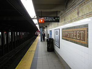 86th Street (IRT Lexington Avenue Line) - Local downtown platform