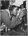 98TH BOMB WING, JAPAN-Pfc. Benjamin Livingston flys as a gunner on one of the U.S. Air Force veteran 98th Bomb... - NARA - 542359.tif
