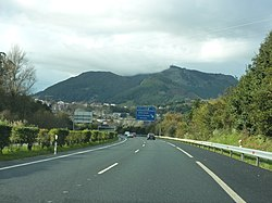 A-8 highway in Solares, Cantabria, Spain.jpg