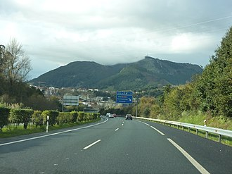 Autopista AP-8 - A-8 in Solares seen towards Santander.