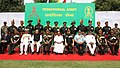 A. K. Antony, the Minister of State for Defence, Dr. M.M. Pallam Raju, the Chief of Naval Staff, Admiral Nirmal Verma, the Chief of Army Staff, Gen. V.K. Singh, the Chief of Air Staff.jpg