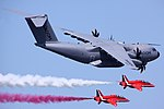 A400M Atlas & Red Arrows - RIAT 2013 (9414704482).jpg