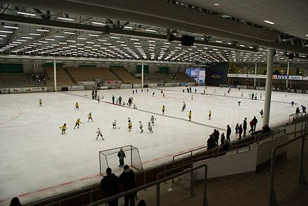 ABB Arena Syd, the largest permanent indoor arena for bandy in Sweden ABB Arena Syd.jpg