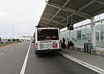 AC Transit route 73 bus at Oakland International Airport, March 2018.JPG