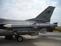 AIM-120 AMRAAM and AIM-9 Sidewinder.JPG