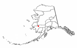 Location of Upper Kalskag, Alaska