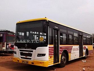 Jawaharlal Nehru National Urban Renewal Mission - JNNURM city bus in Vijayawada