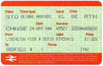 Network Railcard - Image: APTIS Status Code CHNSE