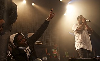 ASAP Mob - ASAP Rocky (left) and ASAP Ferg (right) performing with ASAP Mob, in December 2013.