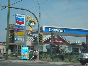 White Spot - A White Spot Triple-O's inside of a Chevron Station in Maple Ridge, British Columbia