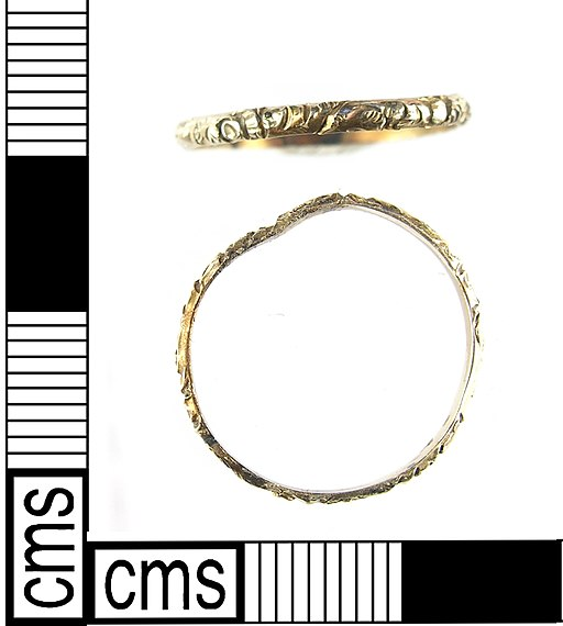 A Post Medieval – Modern gold finger ring probably dating 18th or 19th century. (FindID 421188)