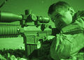 A U.S. Marine with the 26th Marine Expeditionary Unit (MEU) Maritime Raid Force fires an M110 semiautomatic sniper system during a nighttime live-fire exercise June 21, 2013, in Jordan as part of exercise Eager 130621-M-SO289-012.jpg