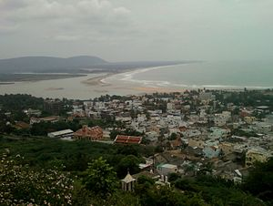 Bheemunipatnam - Hill-top view of Bheemunipatnam town