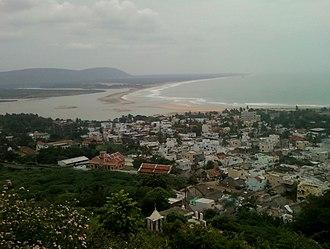 Bheemunipatnam - Hill-top view of Bheemunipatnam town