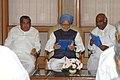 A delegation from Karnataka Pradesh Congress Committee led by the President, KPCC, Shri Mallikarjun Kharge calling on the Prime Minister, Dr. Manmohan Singh, in New Delhi on June 16, 2007 (1).jpg