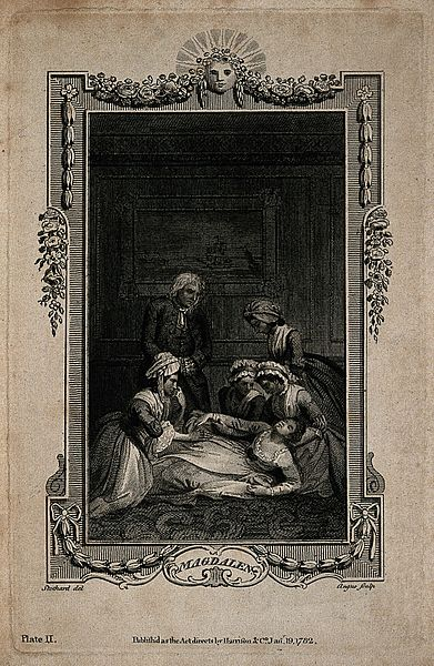 File:A group of women gather around a fainted woman, while a conc Wellcome V0015118ER.jpg
