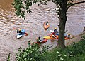 A huddle of canoeists, Symonds Yat East - geograph.org.uk - 473381.jpg