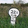 A mile marker along the Grantham Canal - geograph.org.uk - 979936.jpg