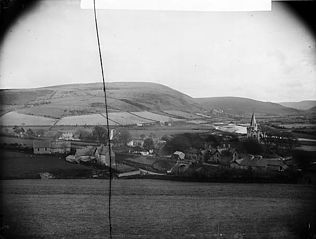 A view of Llangurig from Bryncylla