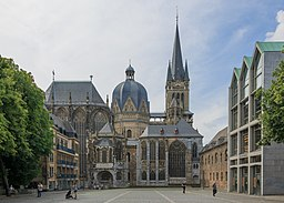 Aachen, Germany: Aachen Cathedral with Palatine Chapel.