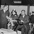 Aankomst dr. J. H. E. Ferrier , gouverneur van Suriname Schiphol. J. H. E. Ferri, Bestanddeelnr 921-1428.jpg