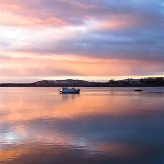 Tauranga - Picturesque sunrise over the Tauranga harbour.