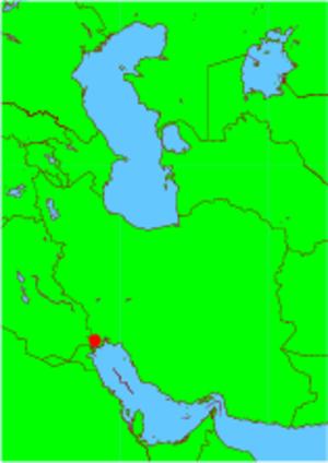 Abadan Island - Abadan Island location.