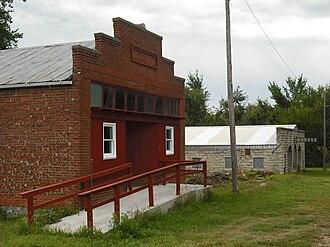 Bushong, Kansas - Old Store and Garage in Bushong (2009)