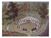 Abbey of Port-Royal, Nuns Meeting in Solitude by Magdeleine Hortemels c. 1710.jpg