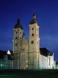 The Abbey of St. Gall by night