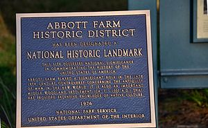National Register of Historic Places listings in Burlington County, New Jersey - Image: Abbott Farm Historic District marker 8 2011